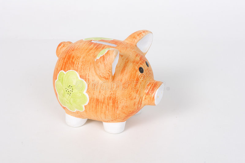Piggy bankfor kids to safe money royalty free stock photography