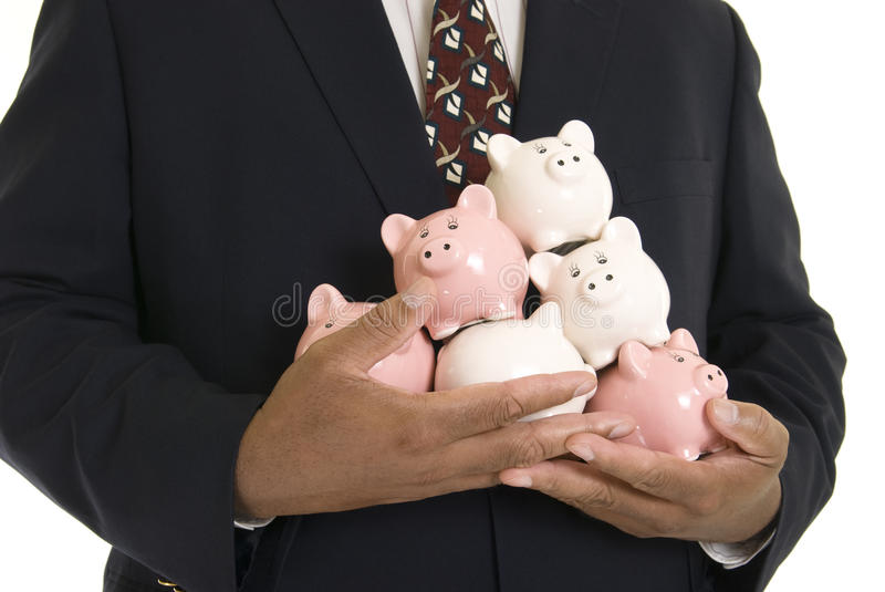 Piggy banks stock image