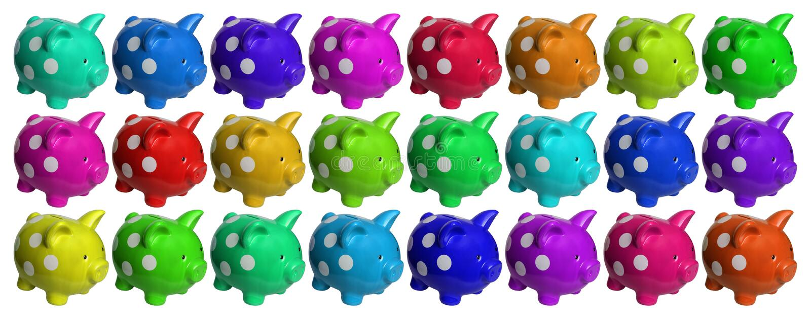 Download Piggy banks stock photo. Image of rainbow, bank, background - 19848622
