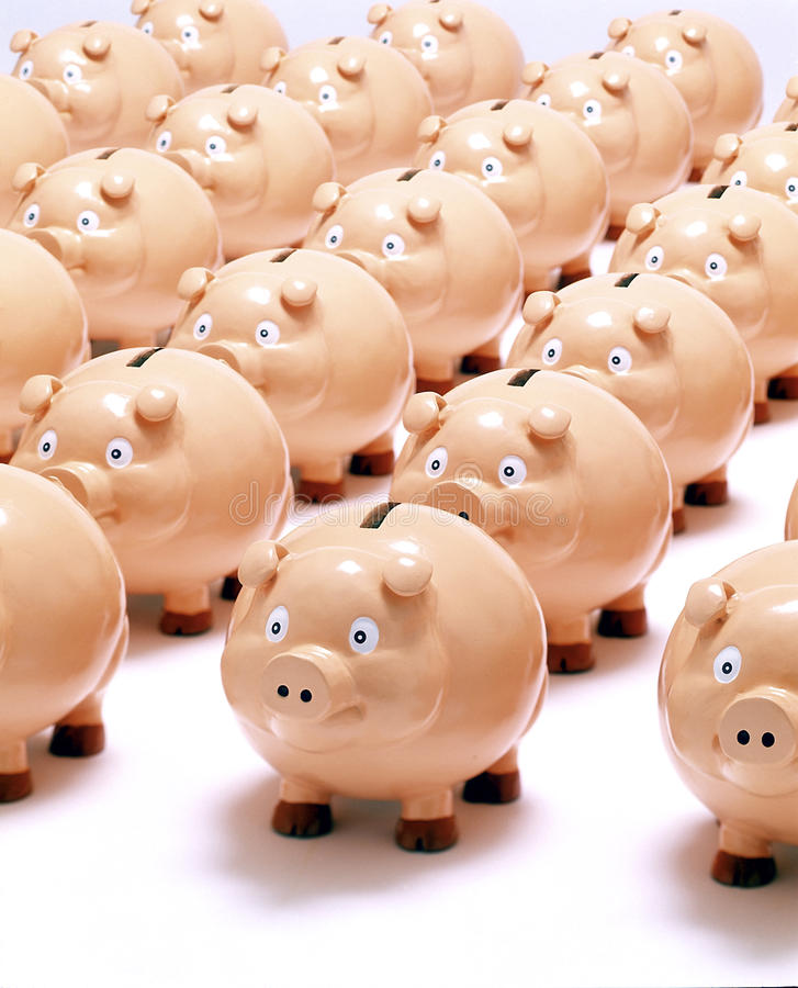 Download Piggy Banks Bank Business Saving Royalty Free Stock Images - Image: 16535549