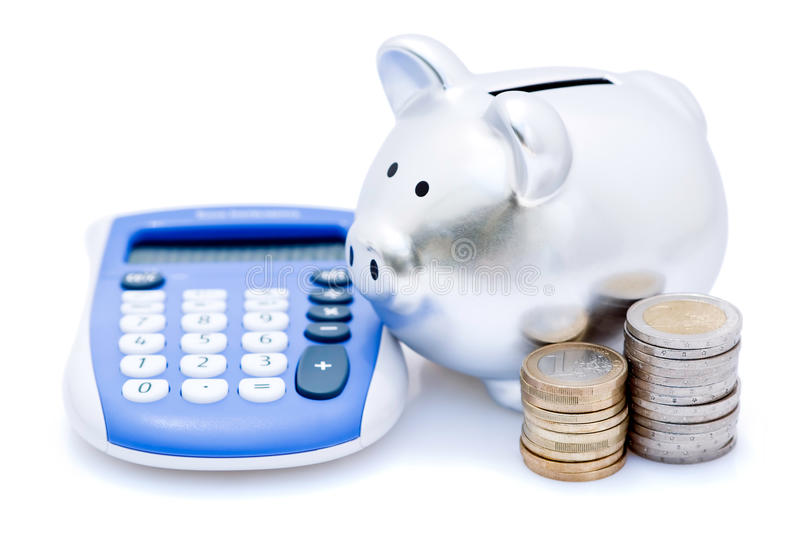 Download Piggy Banks With Calculator Stock Image - Image: 16806637