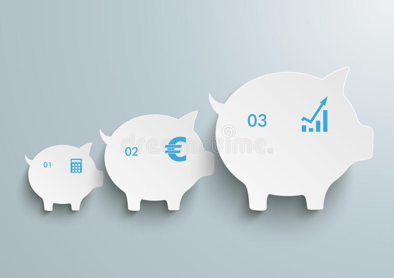 Piggy Banks Chart royalty free illustration
