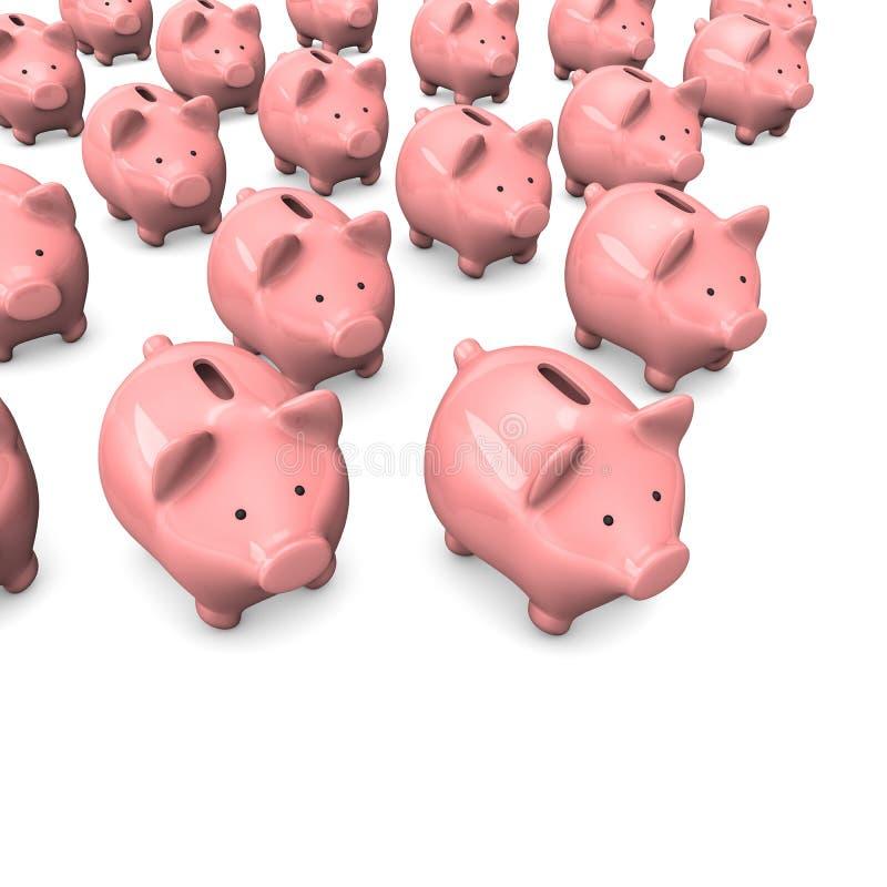 Download Piggy Banks stock illustration. Image of growth, financing - 32204841