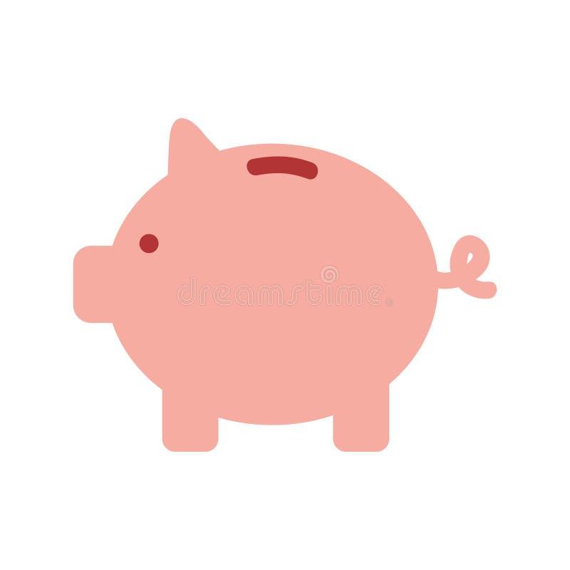 Piggy besparingar isolerade symbolen vektor illustrationer