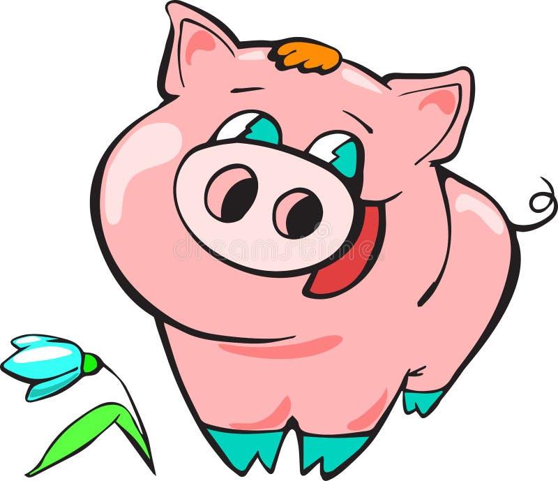 Piggy Chinees nieuw jaar, beeldverhaal, viering, ontwerp, pret, geluk royalty-vrije illustratie