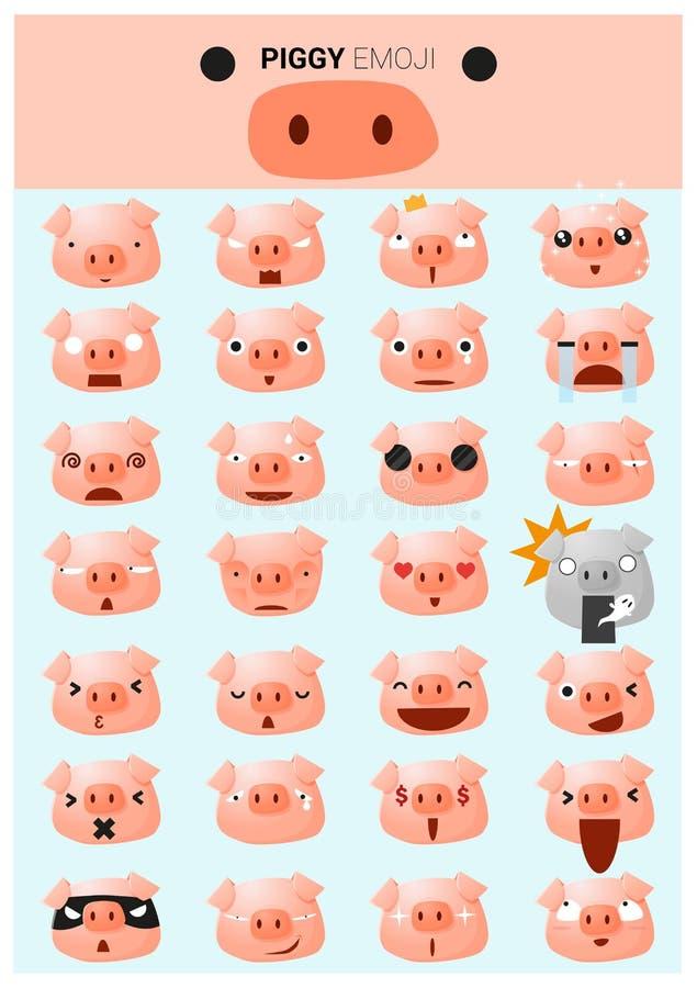 Free Piggy Emoji Icons Royalty Free Stock Image - 71458216