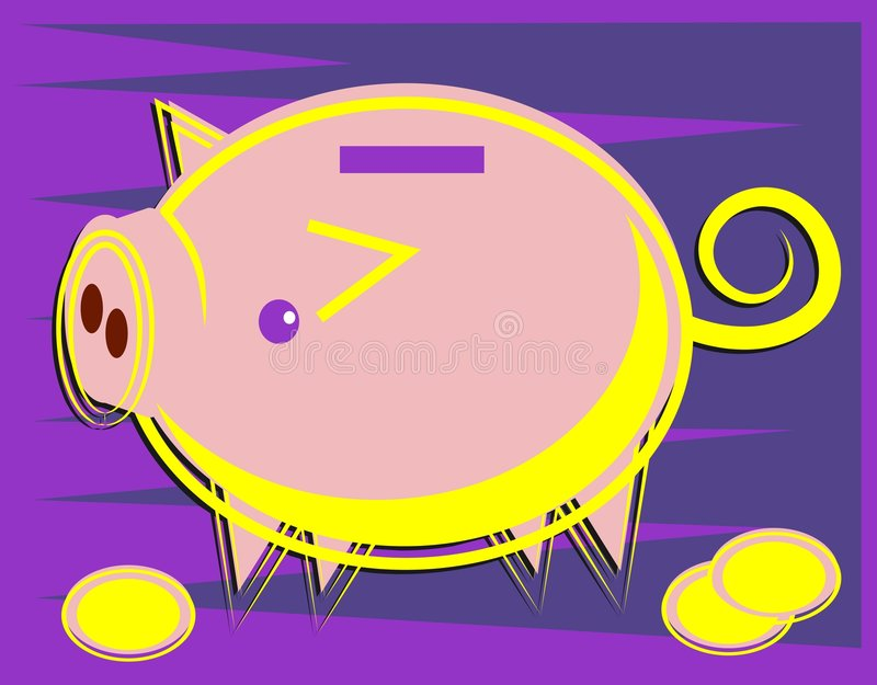 Download Piggy grupp vektor illustrationer. Bild av revisor, revisorer - 46323