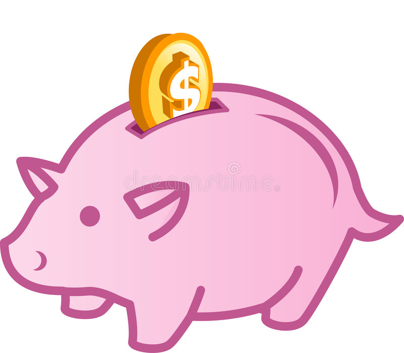 Download Piggy grupp stock illustrationer. Illustration av cents - 982794