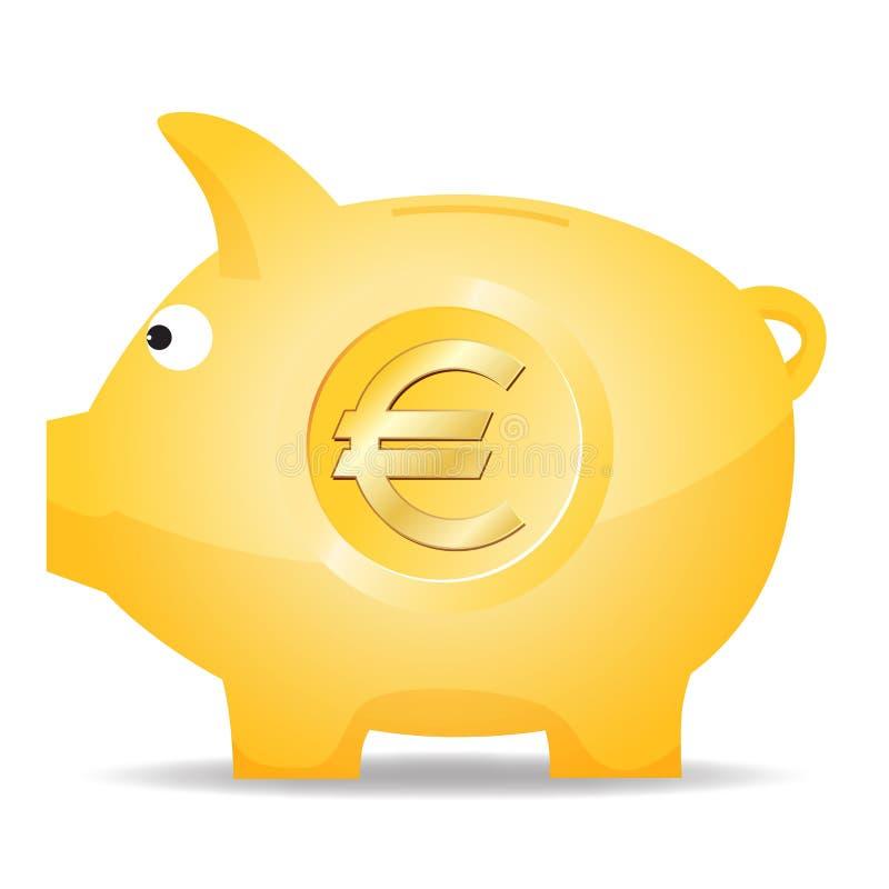 Piggy grupp för Euro stock illustrationer