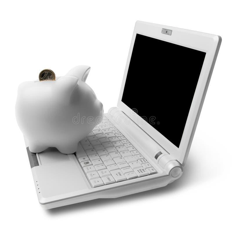 Download Piggy gruppdator fotografering för bildbyråer. Bild av mynt - 19776693
