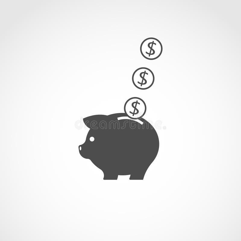 piggy gruppsymbol diagram piggy sättande sparande för grupppengar vektor illustrationer