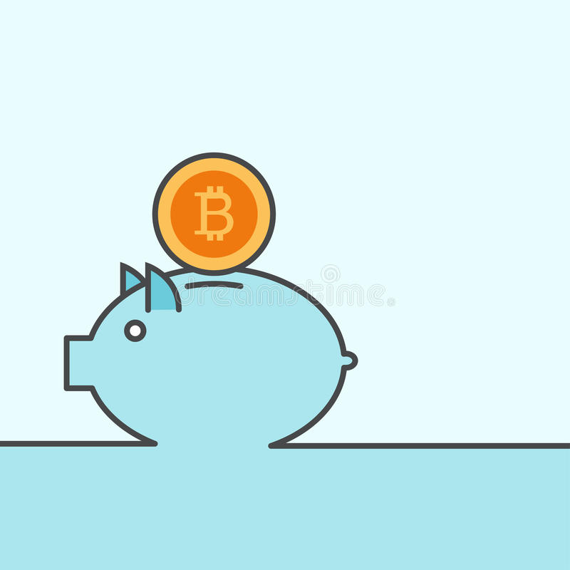 Piggy Hintergrund des modernen Bankwesens des Vektors lizenzfreie abbildung