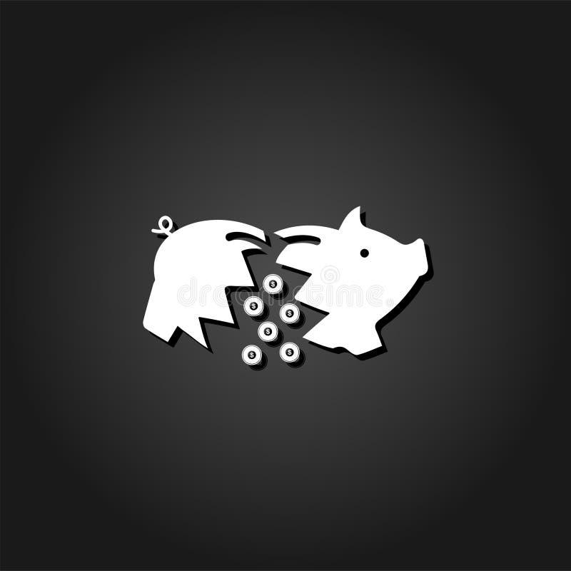 Piggy Ikone flach lizenzfreie abbildung