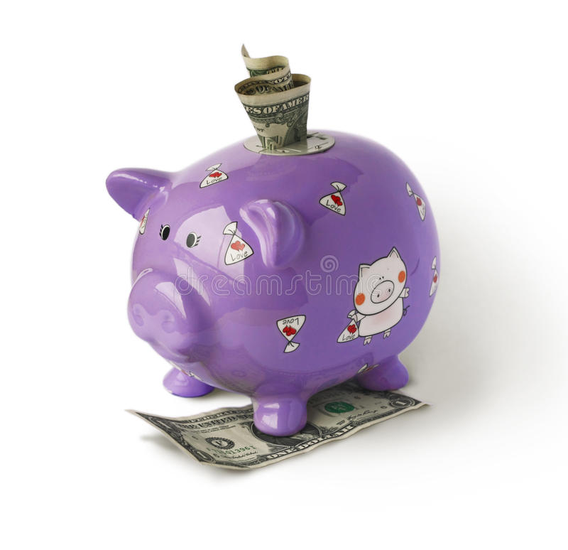 Download Piggy moneybox with money stock image. Image of finance - 16542453