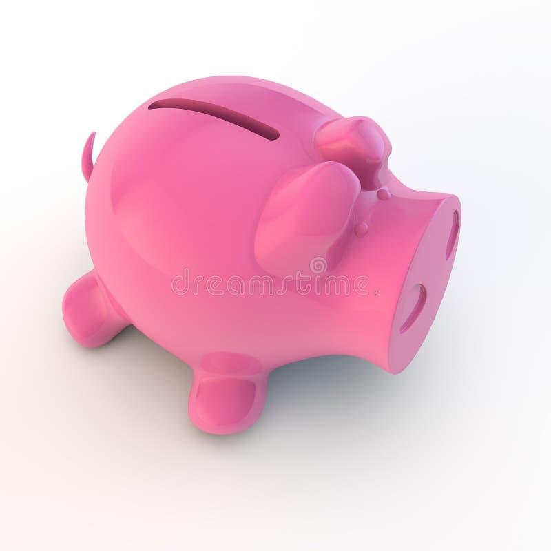 Piggy packa ihop royaltyfri illustrationer