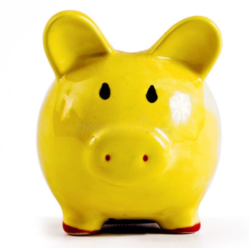 Piggy Querneigung lizenzfreies stockfoto