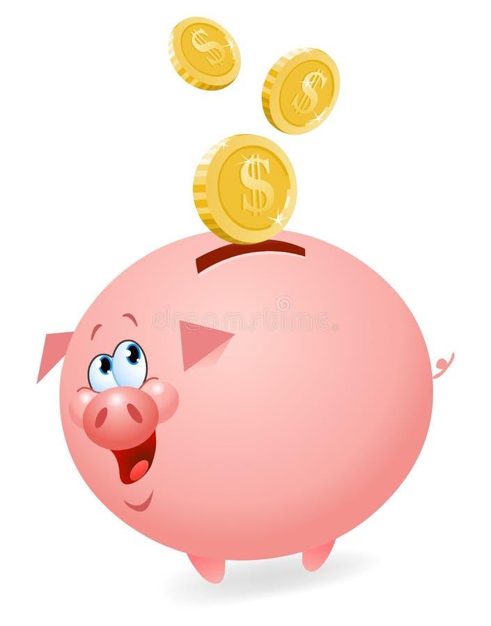 Piggy Querneigung stock abbildung