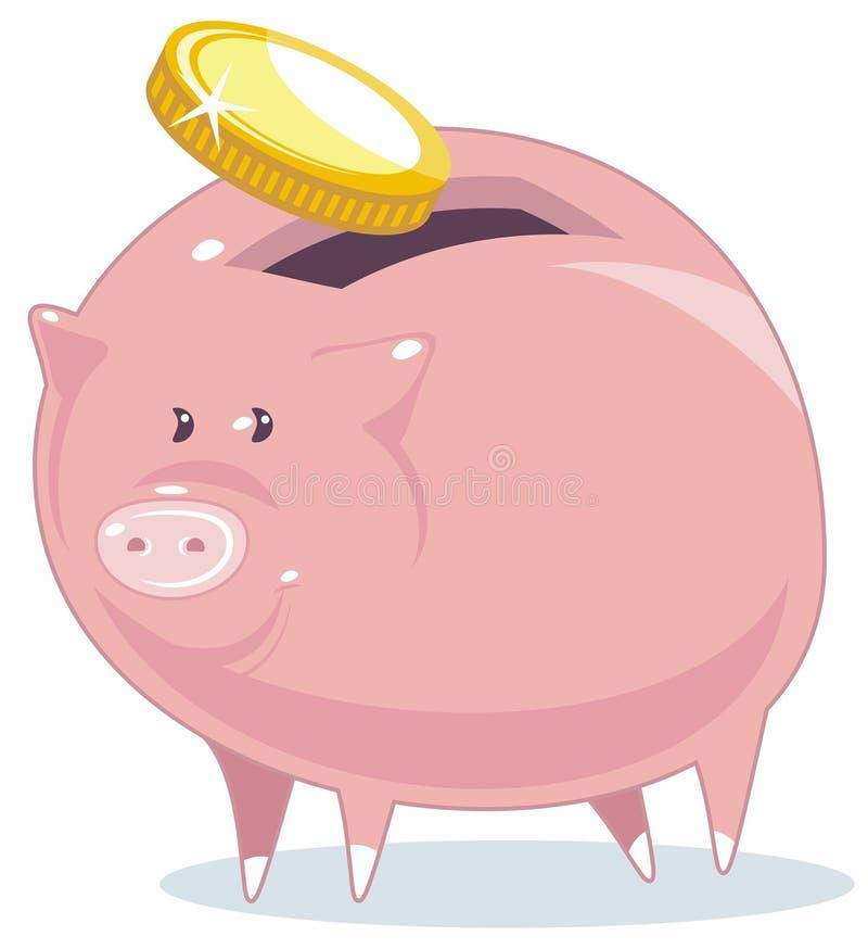 Piggy Querneigung vektor abbildung