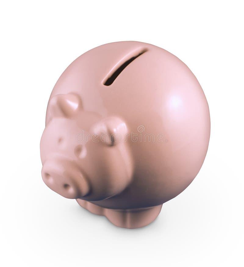 Piggy Querneigung auf Weiß stockbilder