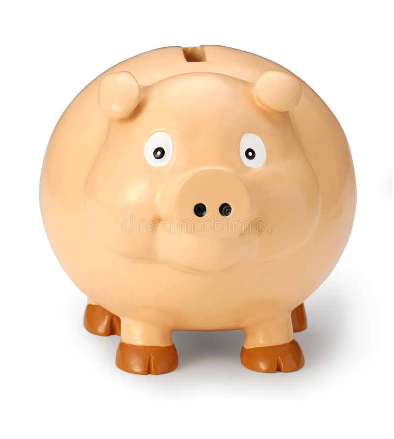 Piggy Querneigung-Gesicht stockbild