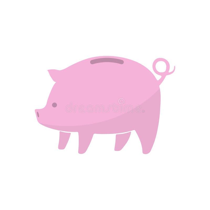 Piggy Querneigung-Ikone Auch im corel abgehobenen Betrag stock abbildung
