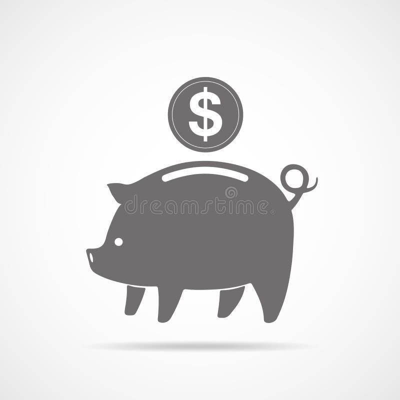 Piggy Querneigung-Ikone Auch im corel abgehobenen Betrag vektor abbildung