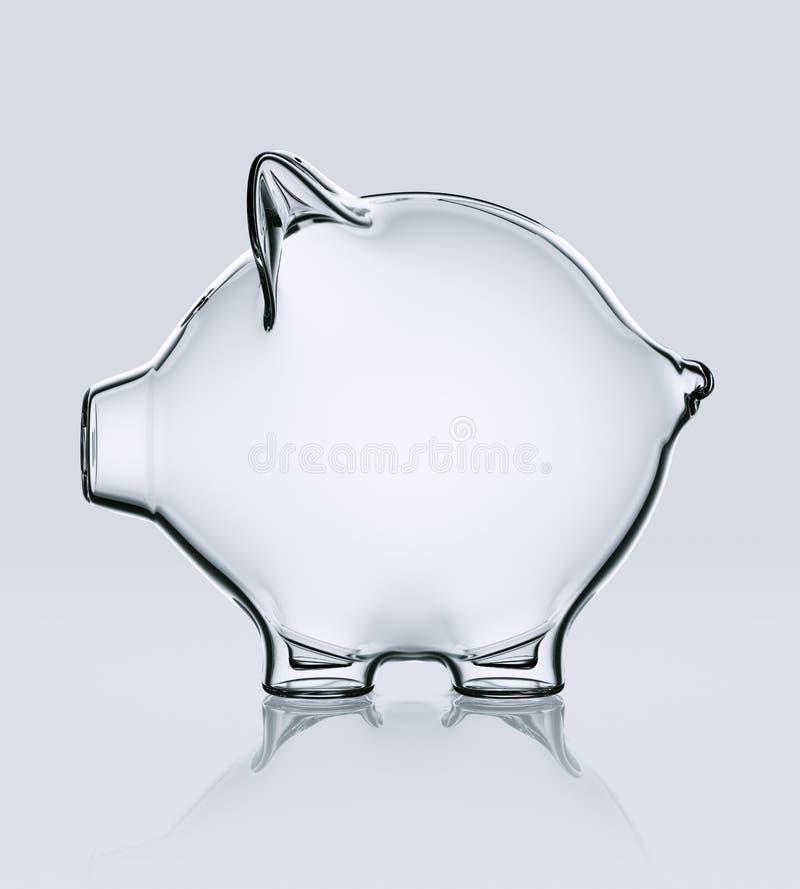 Piggy Querneigung im Glas vektor abbildung