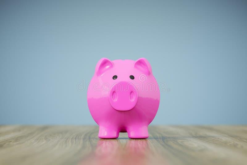 Piggy Querneigung-Rosa stock abbildung