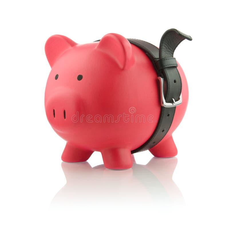 Piggy Querneigung-Serie - starke Finanzen stockbilder