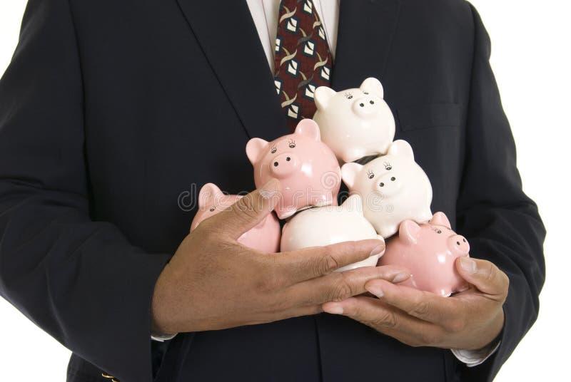 Piggy Querneigungen stockbild