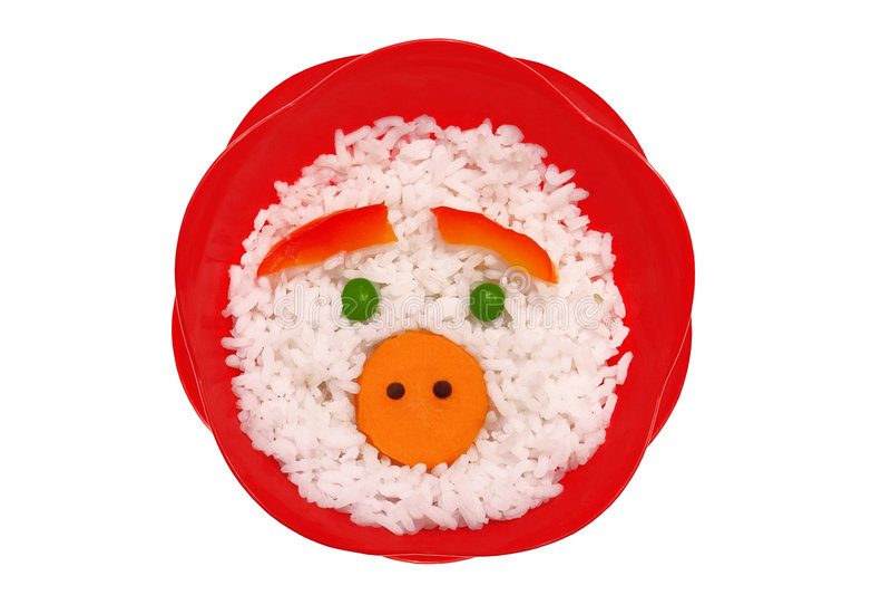 Piggy rijst royalty-vrije stock fotografie