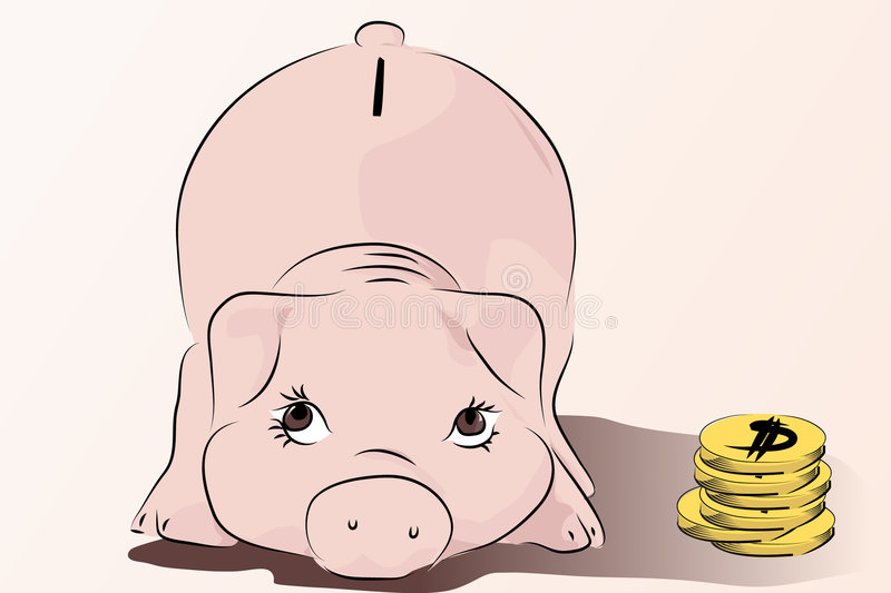 Download Piggy - Save your money stock vector. Image of dollar - 7550639