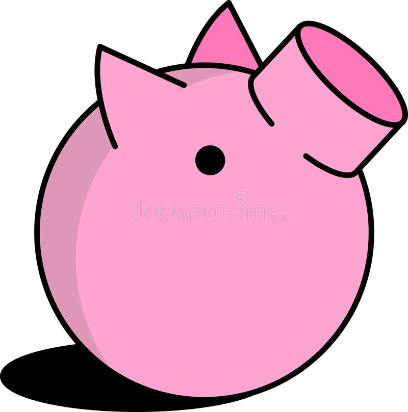 piggy to illustrate royalty free illustration