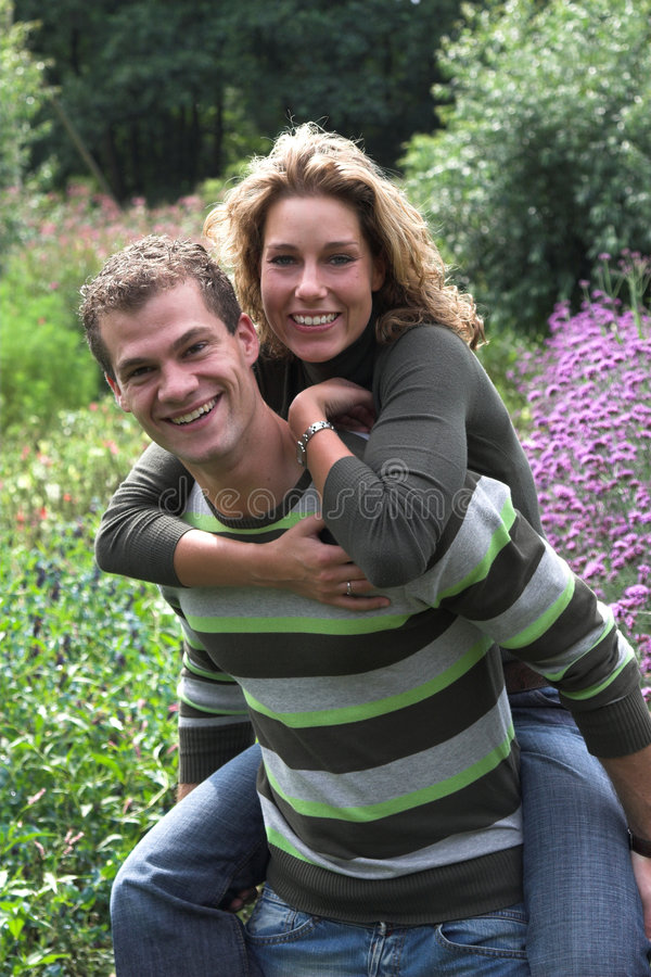 Piggyback in the garden royalty free stock photography