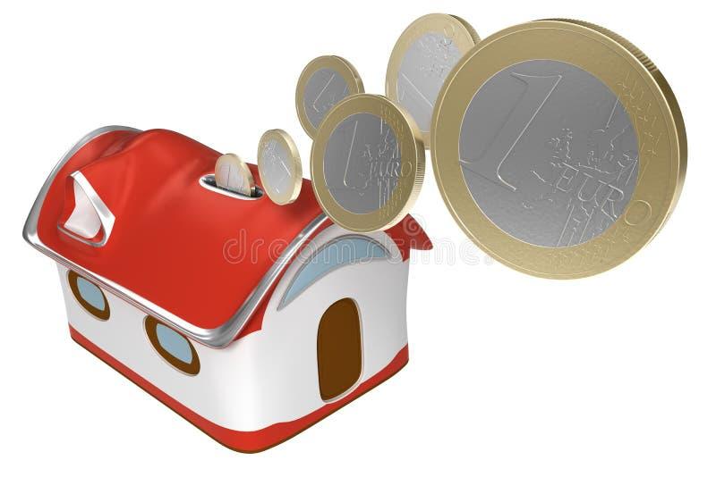 piggybank дома евро бесплатная иллюстрация