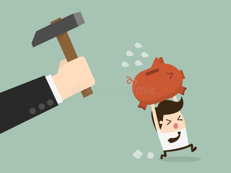 Piggybank тормоза бесплатная иллюстрация