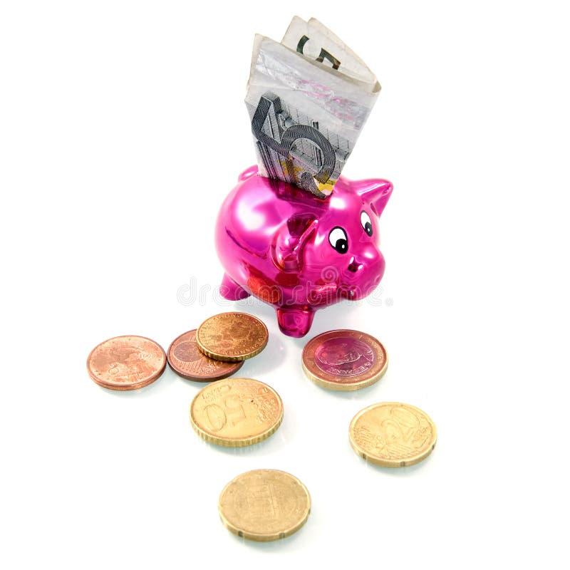 Download Piggybank stock image. Image of banknote, pink, copper - 16891911