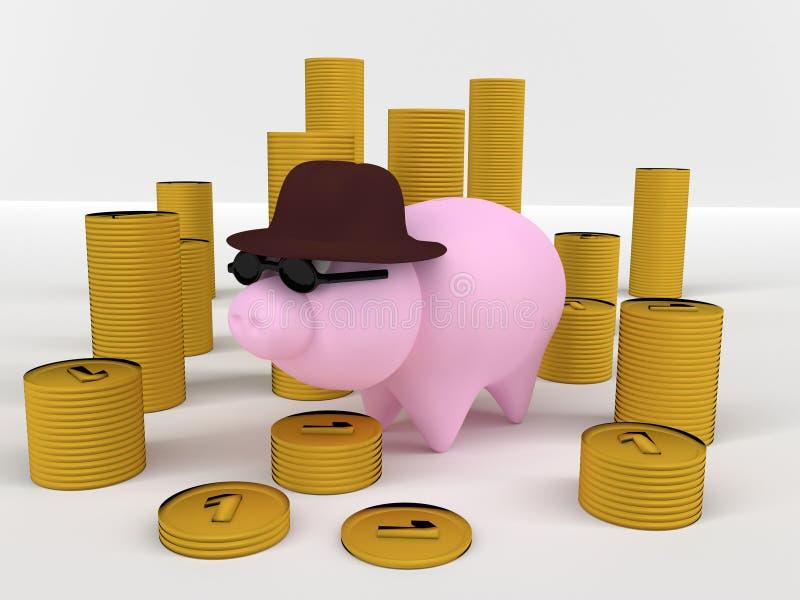 Download Piggybank stock illustration. Image of savings, money - 38264925