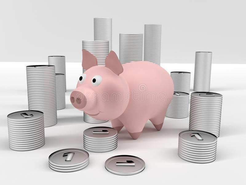 Download Piggybank stock illustration. Image of save, generated - 38328786
