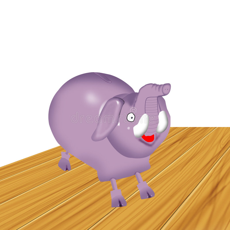 Piggybank do elefante foto de stock