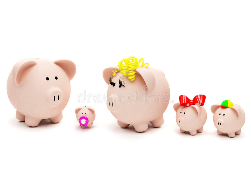 Download Piggybank family stock photo. Image of family, finance - 11128504