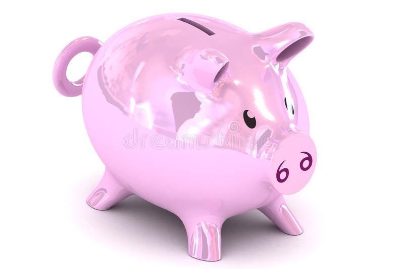 Piggybank illustration stock illustrationer