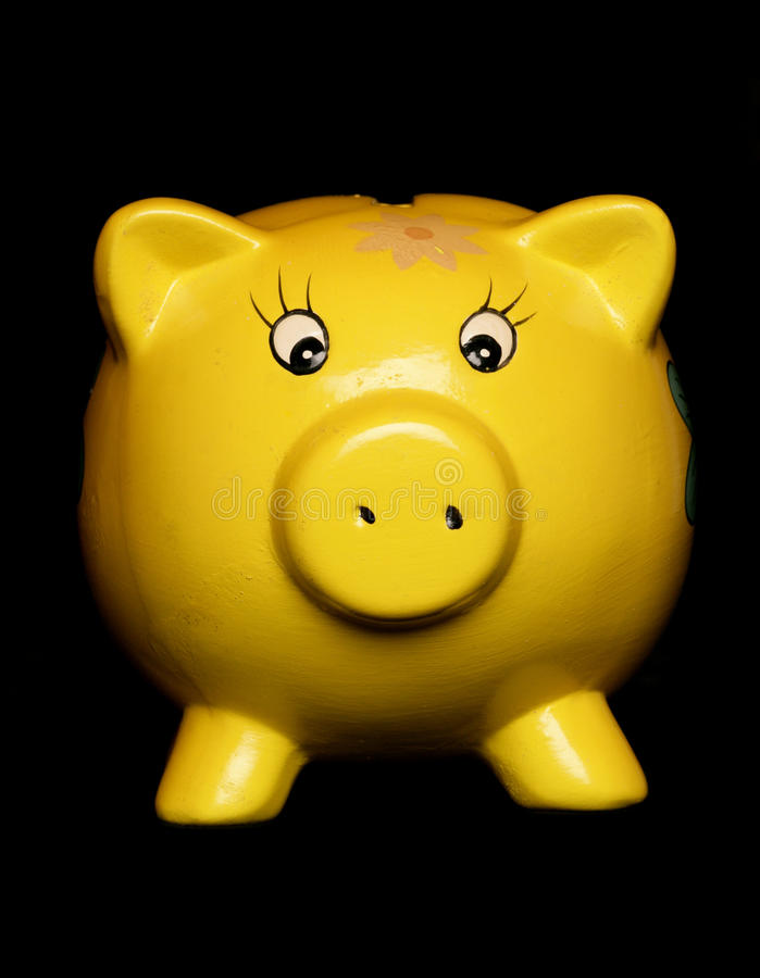 Piggybank jaune photos stock