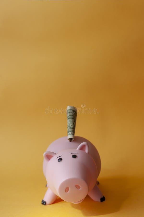 Piggybanking Hem- budgetera royaltyfria foton