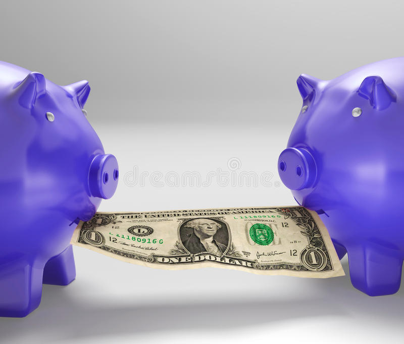 Download Piggybanks Eating Money Showing Financial Counselling Stock Illustration - Illustration: 29592645