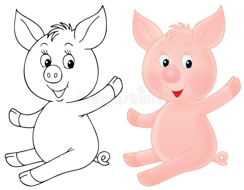 Download Piglet stock illustration. Image of cheerful, cartoon - 19205545