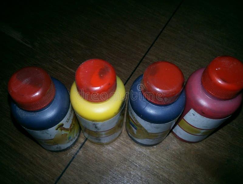 Pigmen-Flasche lizenzfreies stockbild