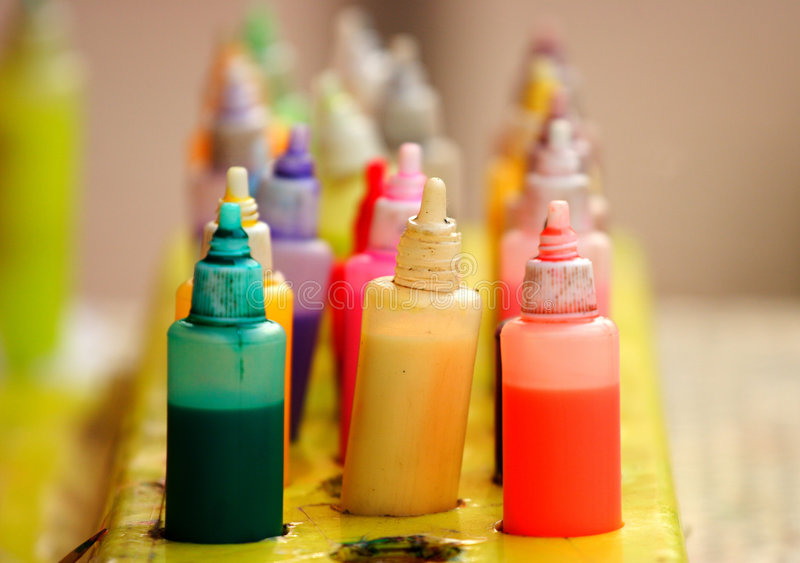Pigment. The pigment on the table royalty free stock image