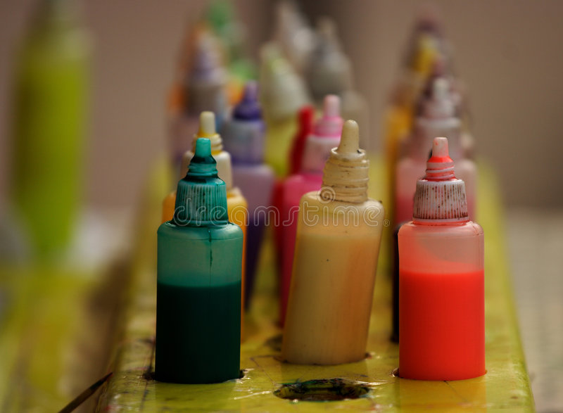 Pigment. The pigment with various colors stock photo