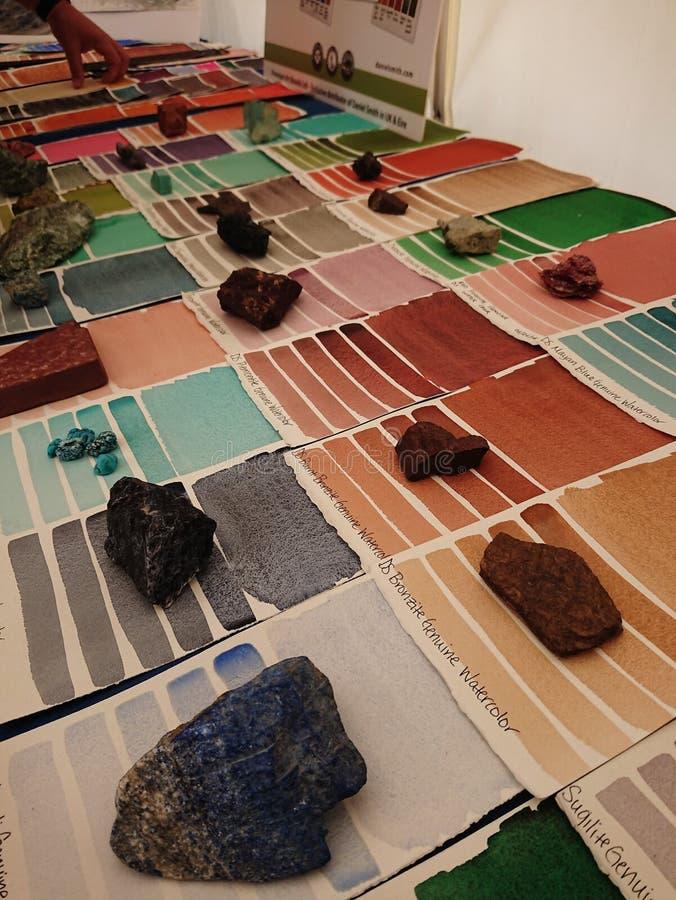Pigmentos da arte fotografia de stock